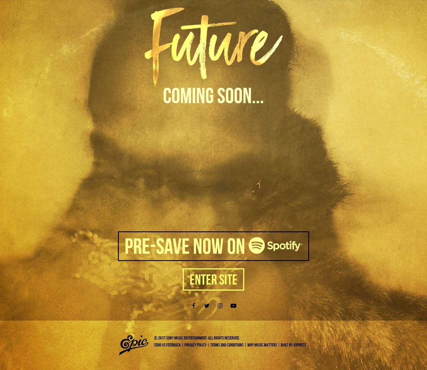 Future Pre-Save for Spotify, Future Presave For Spotify, Future Spotify Pre-Save