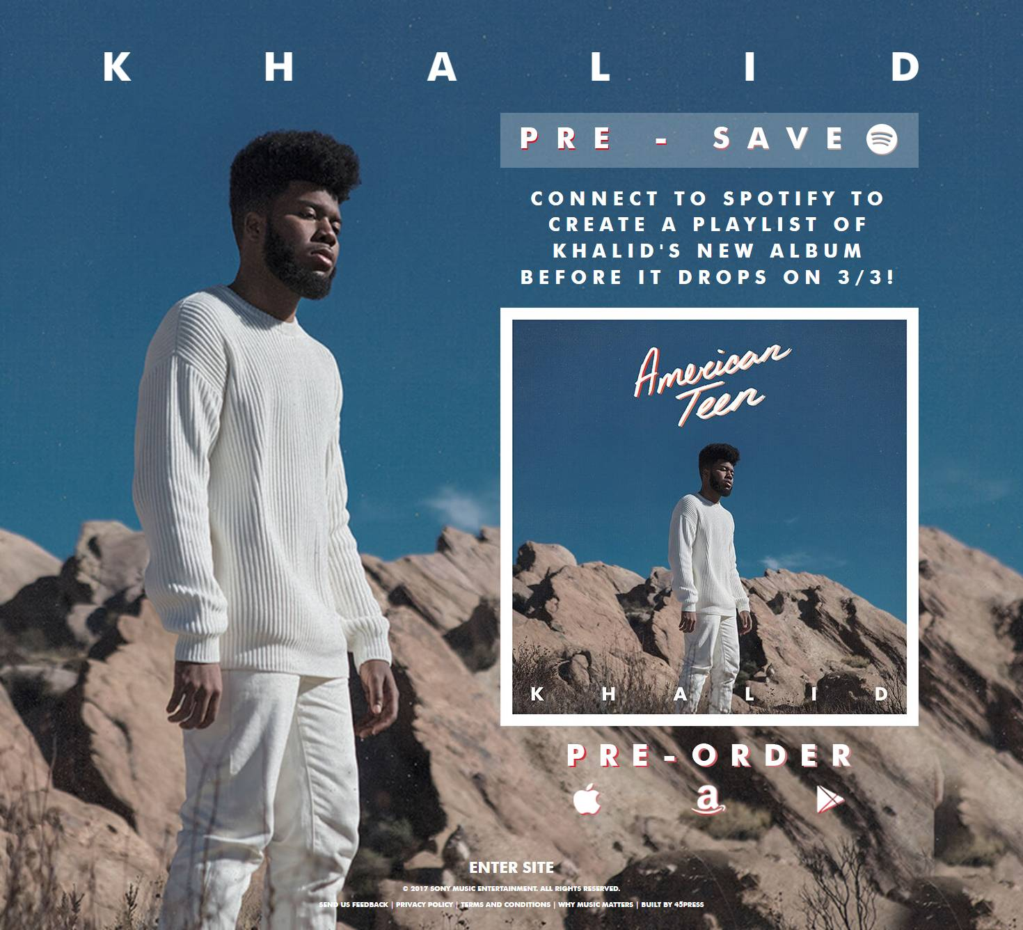 Khalid Pre-Save for Spotify, Khalid Presave For Spotify, Khalid Spotify Pre-Save