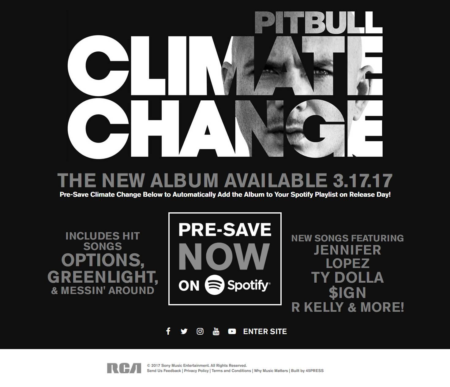 Pitbull Pre-Save for Spotify, Pitbull Presave For Spotify, Pitbull Spotify Pre-Save